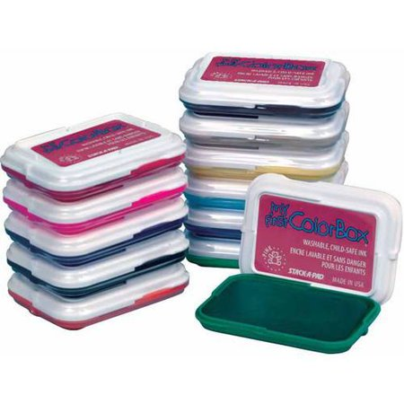 My First ColorBox Non-Toxic Washable Stamp Pad Set, 2-7/8 X 2 Inches,  Assorted Colors, Set of 18