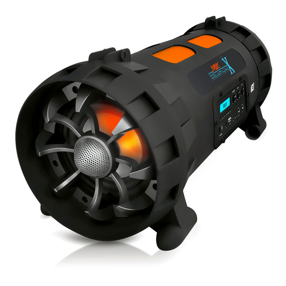 Pyle PBMSPG200 - Street Blaster X High-Powered Rugged & Portable BoomBox Speaker System with Bluetooth & NFC Wireless Streaming, USB Recording