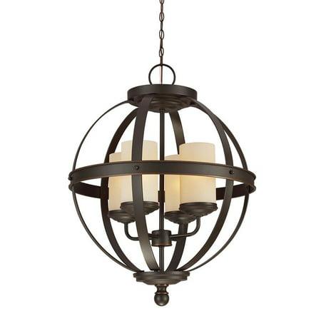 Stockholm Single Light (Sea Gull Lighting 3190404 Sfera 4-Light Single Tier Cage Chandelier)