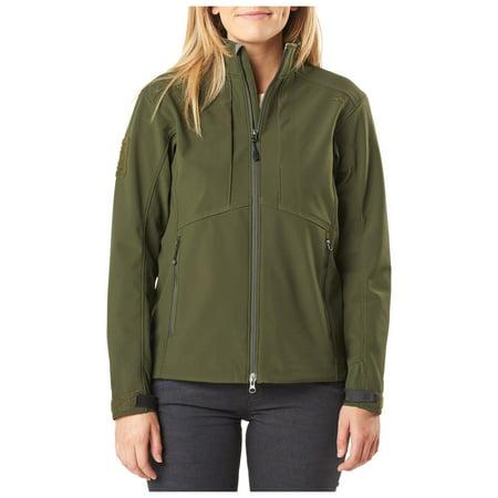 5.11 Tactical Women's Sierra Softshell Jacket, 100% Polyester, Micro-Fleece Inner, Moss, XS, Style 38068 thumbnail