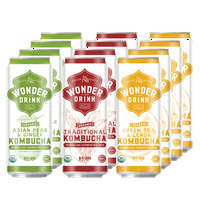 Wonder Drink Variety Pack: Asian Pear Ginger/Traditional/Green Tea & Lemon
