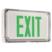 Exit Sign with Battery Backup, Hubbell Lighting - Dual-Lite, SEWLSGWE-4X