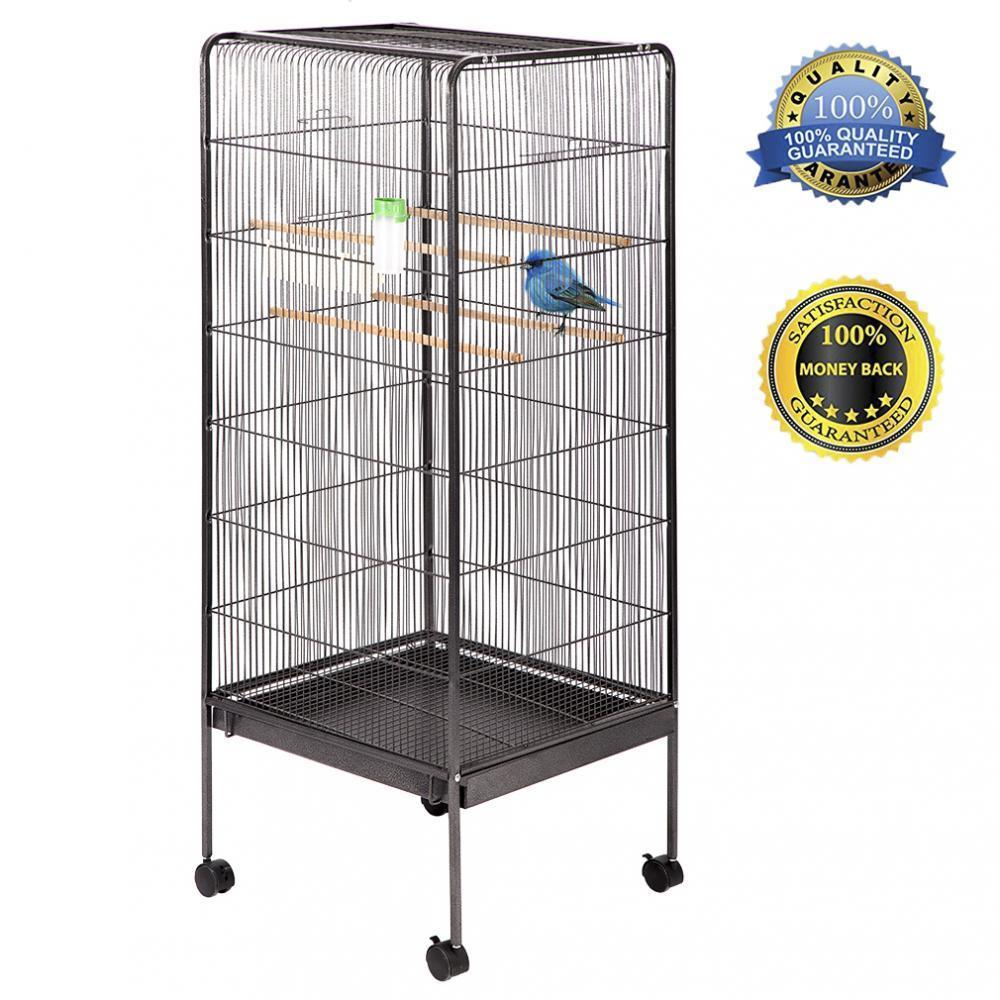 "Large Bird Cage Play Top Parrot Chinchilla Cage l Cockatoo 57"" Pet House"