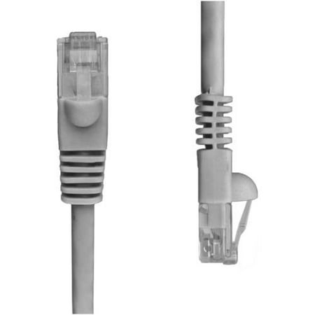 NTW (345-U5E-100GY) Cat5e Snagless Unshielded (UTP) Network Patch Cable, 100'