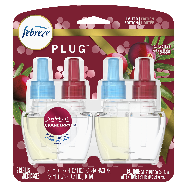 Febreze Plug Odor-Eliminating Air Freshener Refill ...
