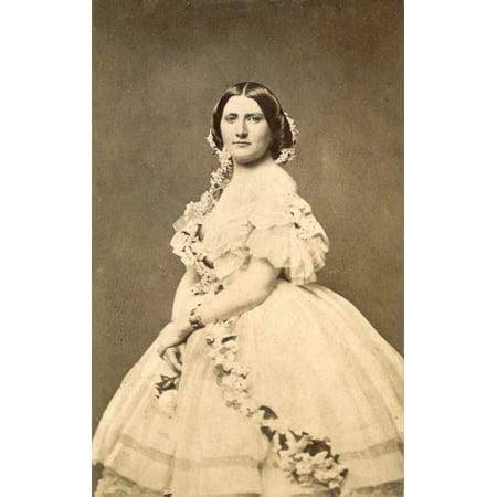 Harriet Lane Johnston N 1830 1903  Niece Of President James Buchanan And White House Hostess Photograph C1860 Rolled Canvas Art     18 X 24