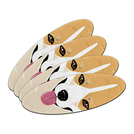 Pembroke Welsh Corgi Yellow Dog Pet Oval Nail File Emery