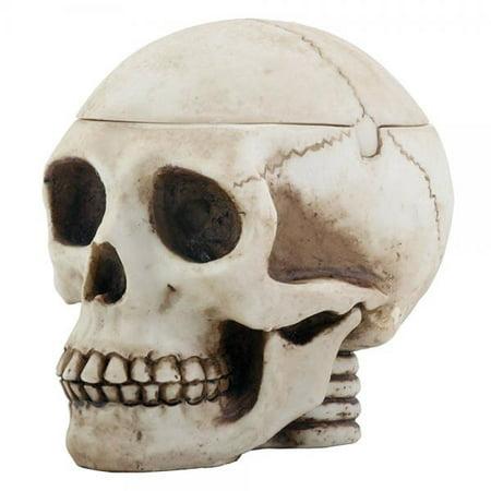 - SUMMIT BY WHITE MOUNTAIN Skull Head Box Ashtray Display Decoration