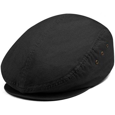 MG Men's Plaid Ivy Washed Canvas Newsboy Cap Hat](Mg Hats)