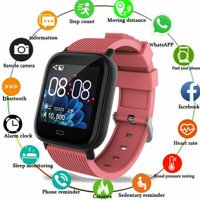 Waterproof Health Tracker, Fitness Tracker Color Screen Sport Smart Watch,Activity Tracker with Heart Rate Blood Pressure Calories Pedometer Sleep Monitor Call/SMS Remind for Smartphones Gift-Pink