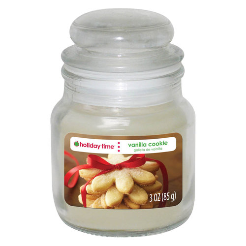 Holiday Time 3-oz Jar Candle, Vanilla Cookie