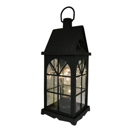 Battery Operated Rectangular Decorative Led Lantern In Black Plastic Material Product Size 5 25x13 5x5 25 Indoors Outdoors Center Piece