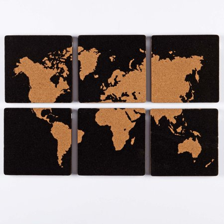 6 piece map cork memo board set black walmart 6 piece map cork memo board set black gumiabroncs Images