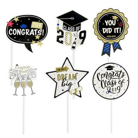 AkoaDa 1PCS Class of 2019 Graduation Celebration Party Cake Topper Decoration Supplies - Graduation Celebration