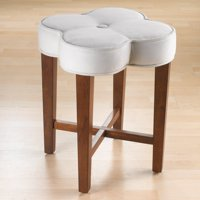 Product Image Hilale Furniture Clover Vanity Stool Cherry