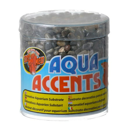 Zoo Med Aquatic Aqua Accents Aquarium Substrate - Dark River Pebbles .5 lbs