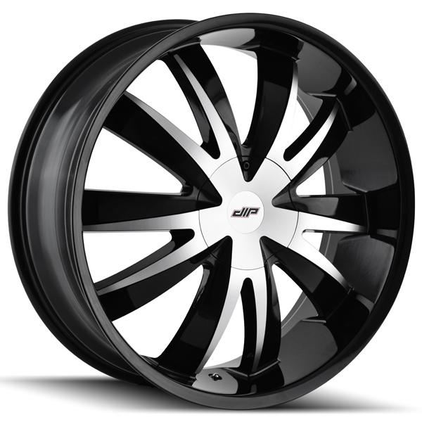 Dip D37 Edge 20x8.5 5x108/5x114.3 +35mm Black/Machined Wheel Rim