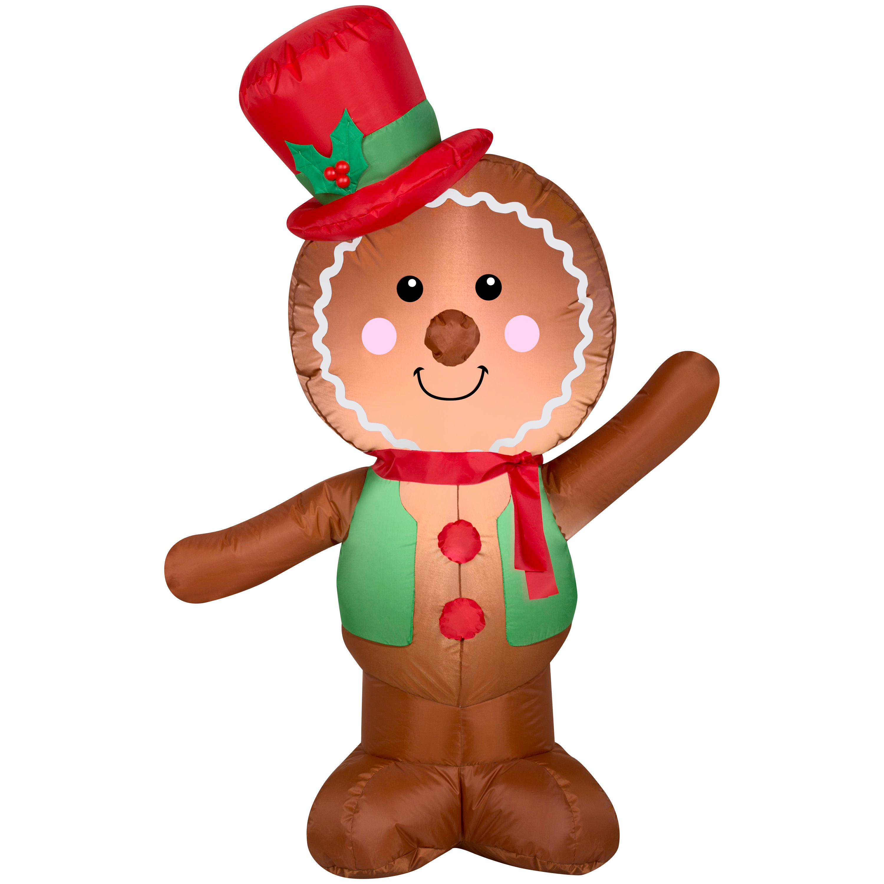 Christmas Airblown 4' Gingerbread Man Inflatable