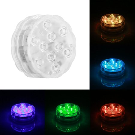 Dive Light 16 Color RGB LED Light with Remote Control Battery Type (4 pairs of lights + one controller) (16 High Four Light)