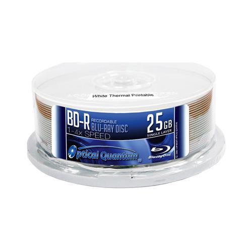 25 OQ 6x 25GB Blu-ray BD-R White Inkjet Printable Blank Disc OQBDR06WIP-H-25