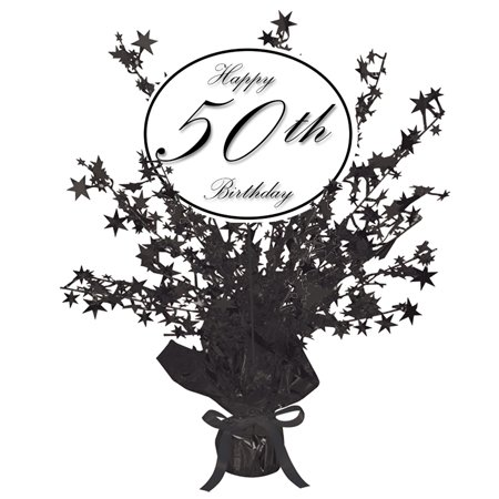 CLASSY BLACK 50TH CENTERPIECE (EACH) by Partypro](50th Centerpieces)
