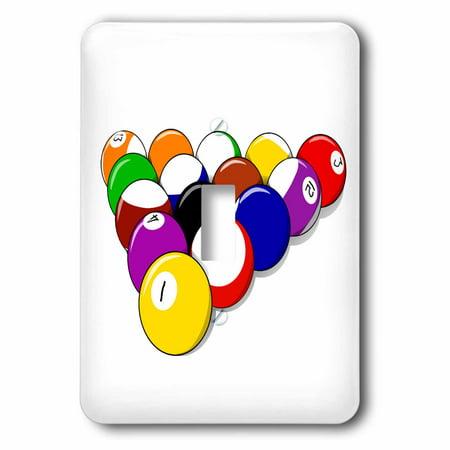 3dRose Pool Balls - Games People Play - Fun Art - Single Toggle Switch (Fun Mind Games To Play On People)