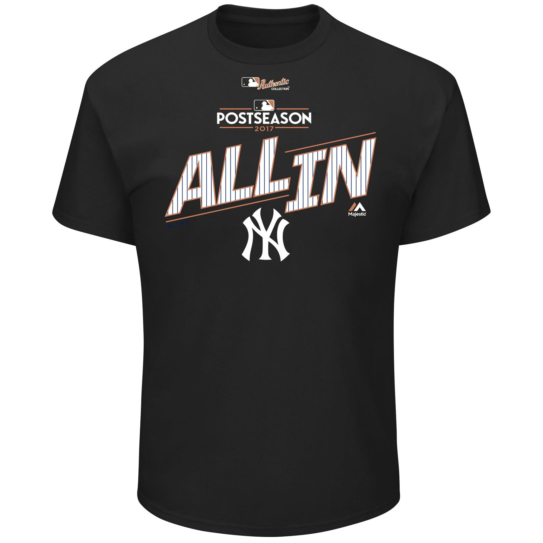 New York Yankees Majestic 2017 Division Series Clincher Locker Room T-Shirt - Black