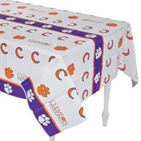 Ncaa Clemson Tablecover - Party Supplies - Licensed Tableware - Misc Licensed Tableware - 1 Piece