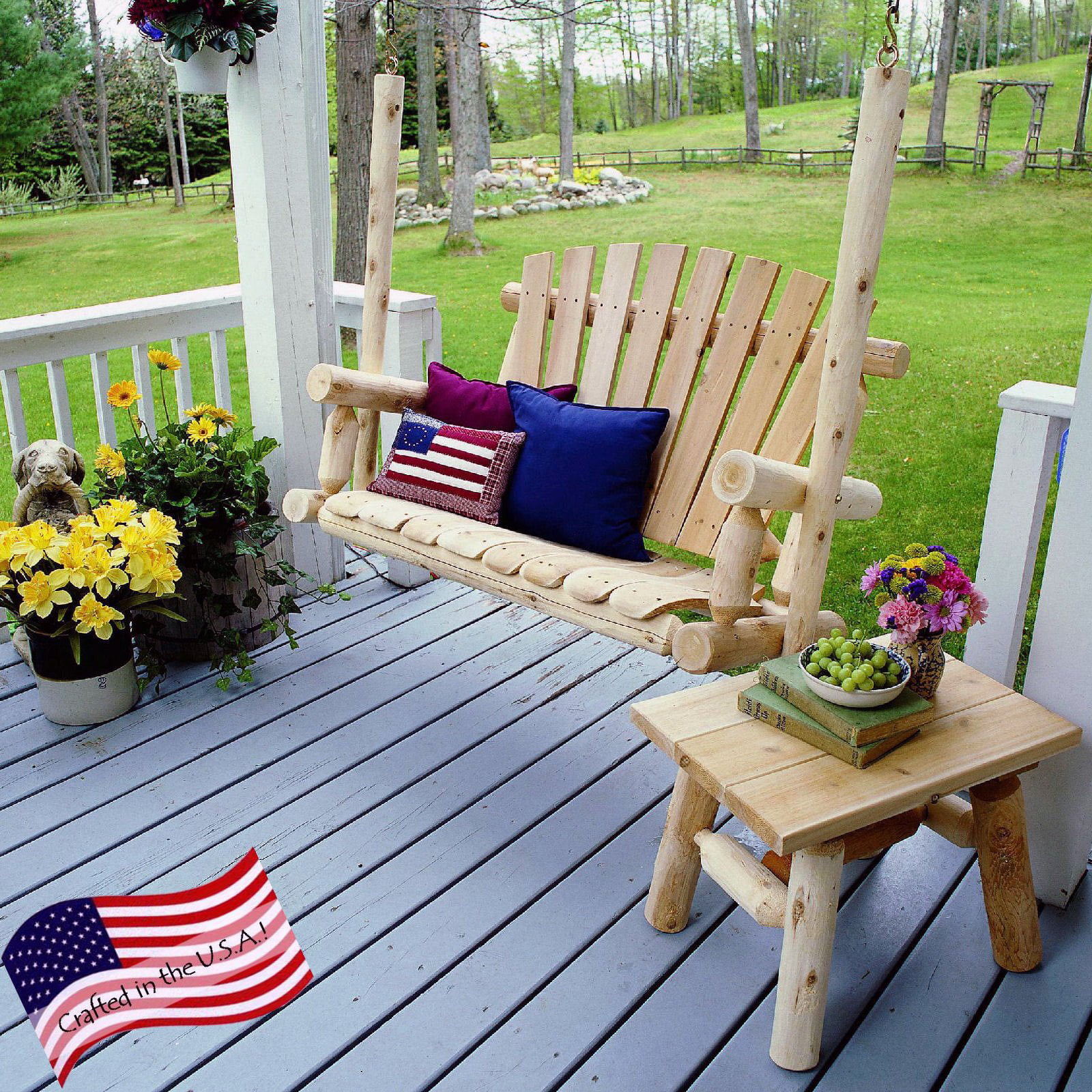 Lakeland Mills 4 Porch Swing Walmart