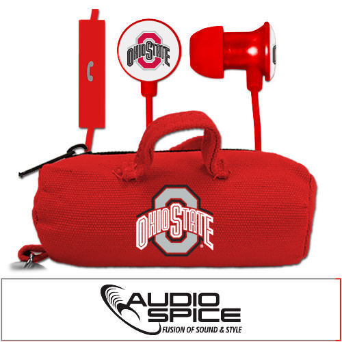 Ohio State Buckeyes Scorch Earbuds + Mic with BudBag