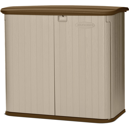 suncast 32 cu ft storage shed taupe