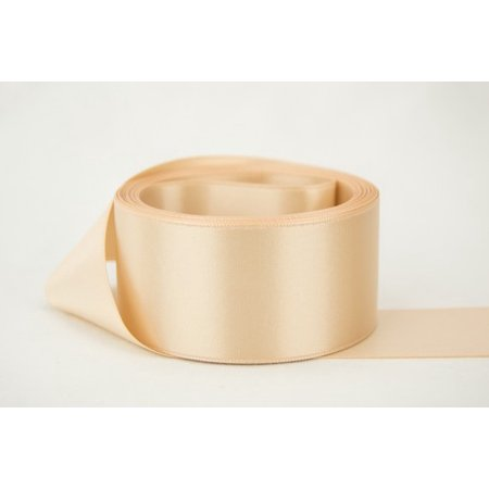 White Topaz Ribbon - Ribbon Bazaar Double Faced Satin 5/8 inch Blush 50 yards 100% Polyester Ribbon