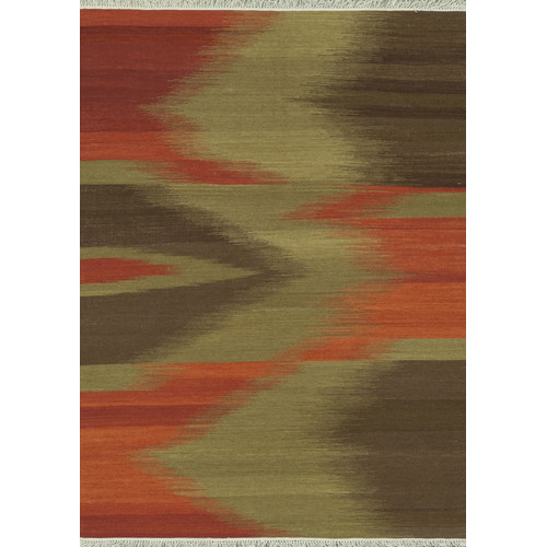 Bloomsbury Market Zapata Hand-Woven Red/Brown Area Rug