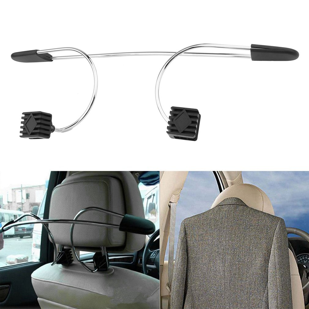 Auto Car Seat Headrest Clothes Coat Jacket Suit Stainless Metal Hanger Holder
