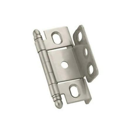 - A03175TM G10 PK Amerock Full Inset Full Wrap Free Swinging Minaret Tip Hinge For 0.75 in. Doors, Satin Chrome Single