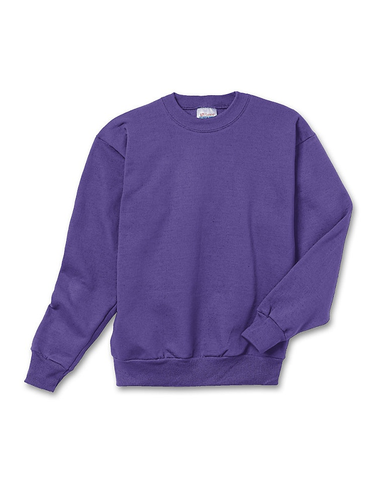 Hanes Youth ComfortBlend; Eco Smart; Crewneck Sweatshirt, Color: Denim Blue, Size: M --- PACK OF 2 (Boys)