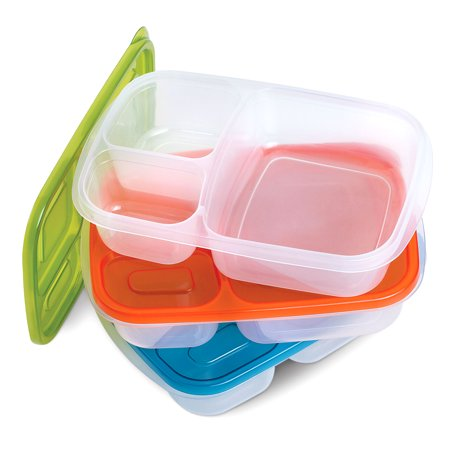 3 piece bento box lunch box set multi compartment for Decor 7 piece lunch set