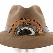 "ZUCKER Pheasant Feather Hat Crown - 4.25"" x 2.5"" - 1pc - Black - Natural"