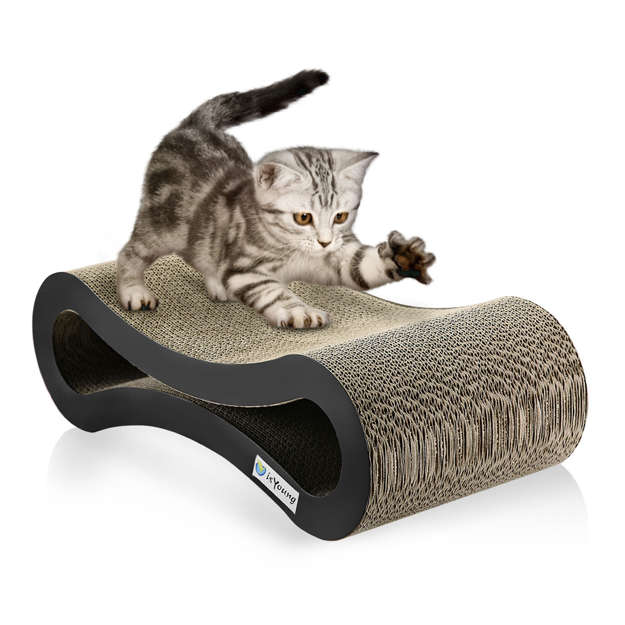 cat scratcher lounge. IsYoung Cat Scratcher Lounge \u0026 Bed Cardboard Protector For Furniture Couch Floor Eco-