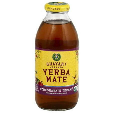 Guayaki Brand Yerba Mate Pomegranate Terere Dietary Supplement, 16 fl oz, (Pack of (Best Yerba Mate Tea Brand)