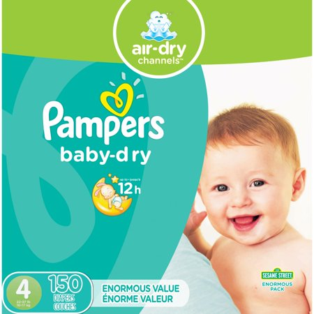 Pampers Baby-Dry Diapers Size 4 150 Count