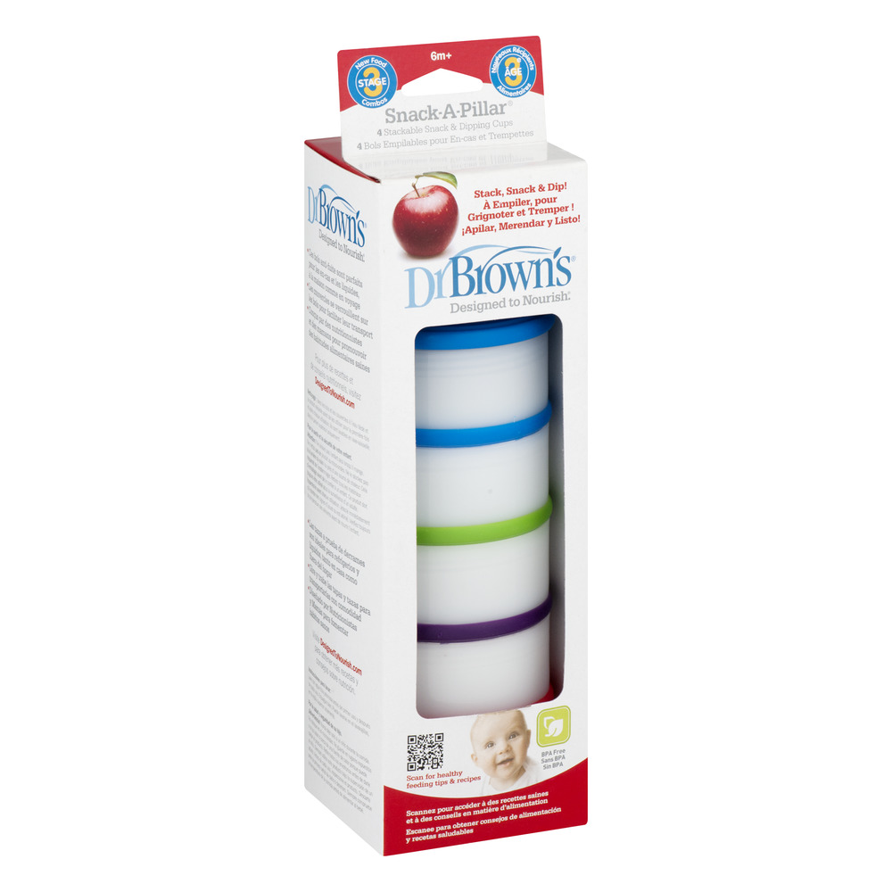 Dr Browns 765-P3 Designed To Nourish Snack-A-Pillar Dipping Cups