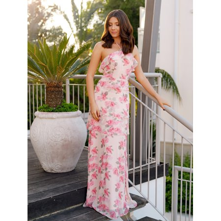 66c4d31827f1 Ever-pretty - Ever-Pretty Women's Full-Length Halter Neck Floral Print  Summer Cocktail Party Beach Wedding Guest Dress for Women 07239 Pink US 6 -  Walmart. ...