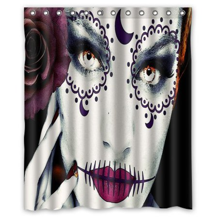 Halloween Window Paintings (Ganma Halloween Face Pink Painting Shower Curtain Polyester Fabric Bathroom Shower Curtain 60x72)