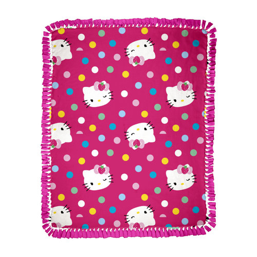 Springs Creative Hello Kitty Multi-Dots Microfiber Throw Kit