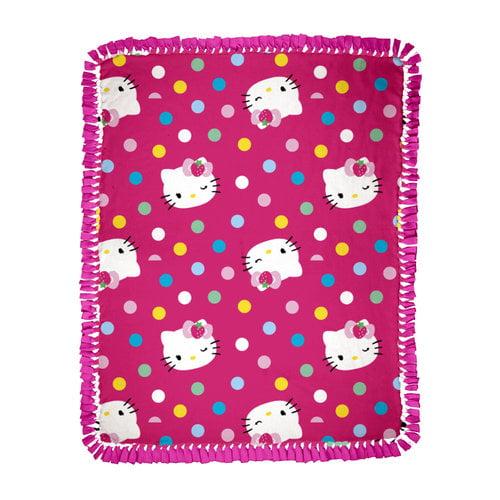 Springs Creative Hello Kitty Multi-Dots Microfiber Throw Kit
