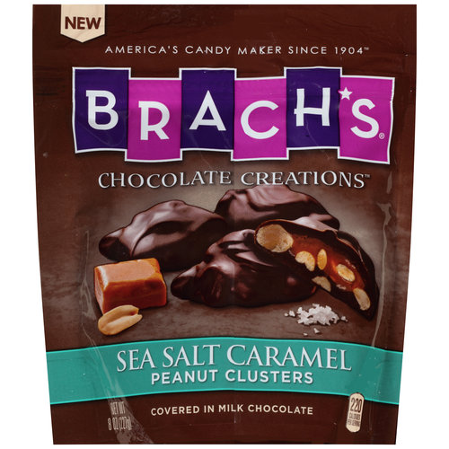 Brach's(r) Chocolate Creations(tm) Sea Salt Caramel Peanut Clusters Candy, 8 oz