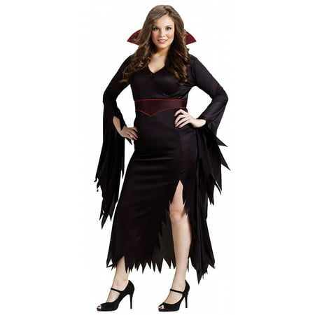 Classy Women Costumes (Classy Vamp Adult Costume - Plus Size)