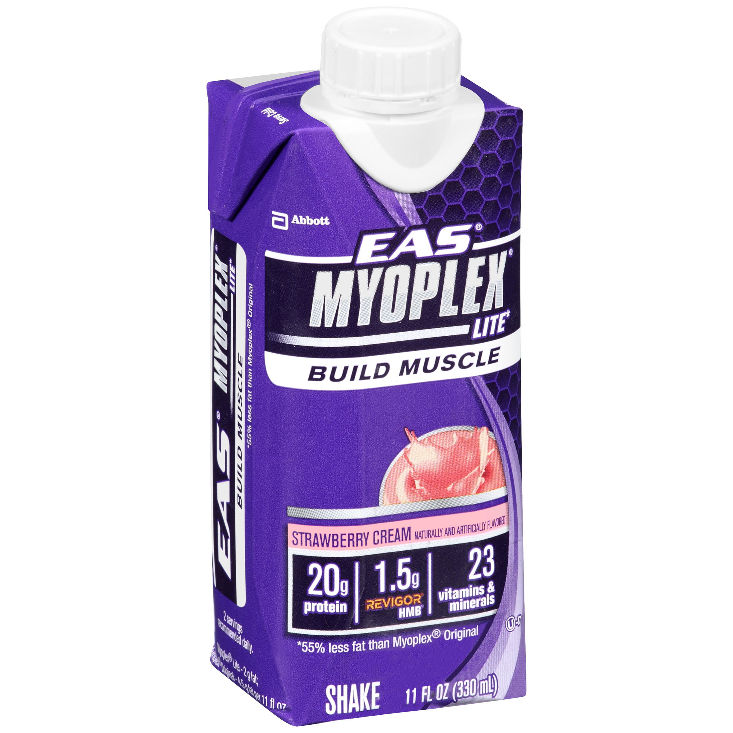 EAS® Myoplex® Lite Dietary Supplement Strawberry Cream  Nutrition Shake 11 fl. oz. Aseptic Carton