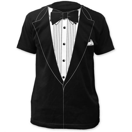 Tuxedo Black Retro Prom Costume T-Shirt (S)](80s Prom Costume Men)